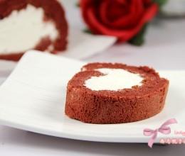 奶油红丝绒蛋糕卷