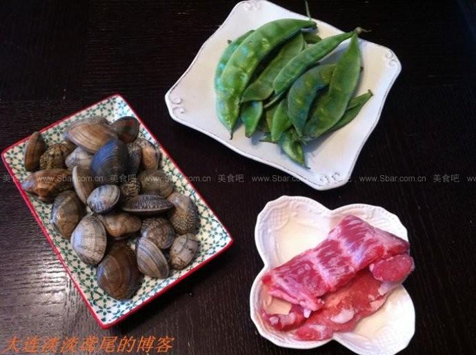 眉豆蚬肉疙瘩汤