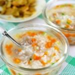 胡萝卜牛肉粥(早餐菜谱)