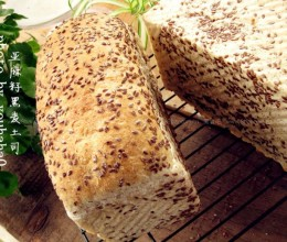 亚麻籽黑麦土司