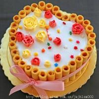 心形玫瑰蛋糕