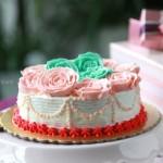 奶油霜玫瑰蛋糕(甜品點心)