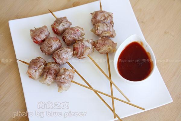 五花肉蕃茄卷