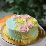 奶油霜裱花蛋糕(甜品点心)