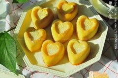 心形金砖蛋糕