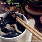 墨鱼面&菌菇汤