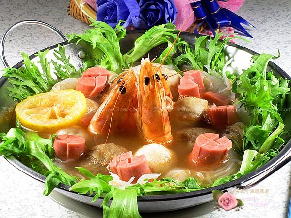 高汤大虾什锦火锅