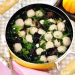 菠菜肉丸子汤