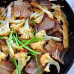 咸肉炒花菜(快手下饭菜)