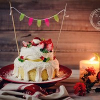白雪圣诞鲜奶蛋糕