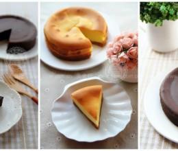 温水巧克力蛋糕和烘烤型芝士蛋糕