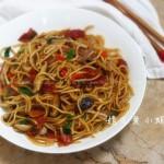姜汁培根香菇炒面(早餐菜谱)