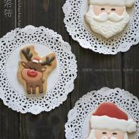 圣诞老人和驯鹿卡通饼干