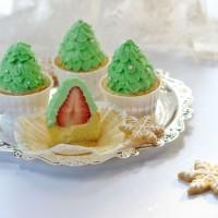 圣诞树杯子小蛋糕