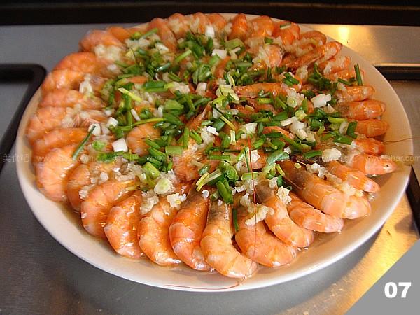 蒜蓉金针菇蒸虾