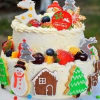 圣诞水果城堡蛋糕