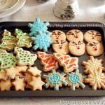圣诞手绘饼干(驯鹿、圣诞树、雪花)