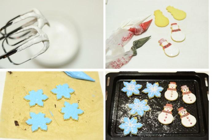 雪花&雪人糖霜饼干