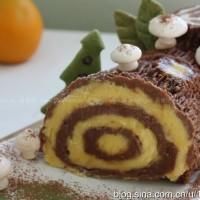 圣诞咖啡木柴蛋糕