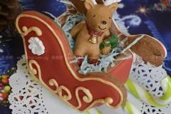 圣诞3D立体雪橇饼干