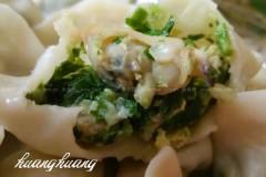 香芹蛤肉水饺