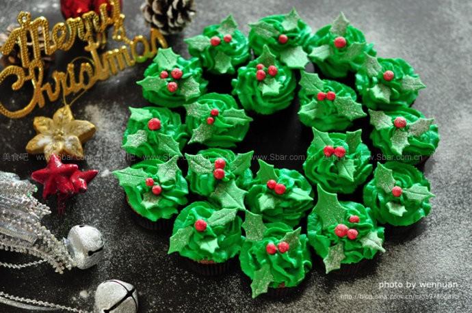 圣诞花环蛋糕