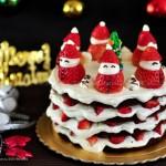 雪人裸蛋糕(圣诞礼物)