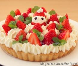 小雪人草莓奶油芝士派