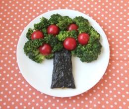 蚝油西兰花苹果树