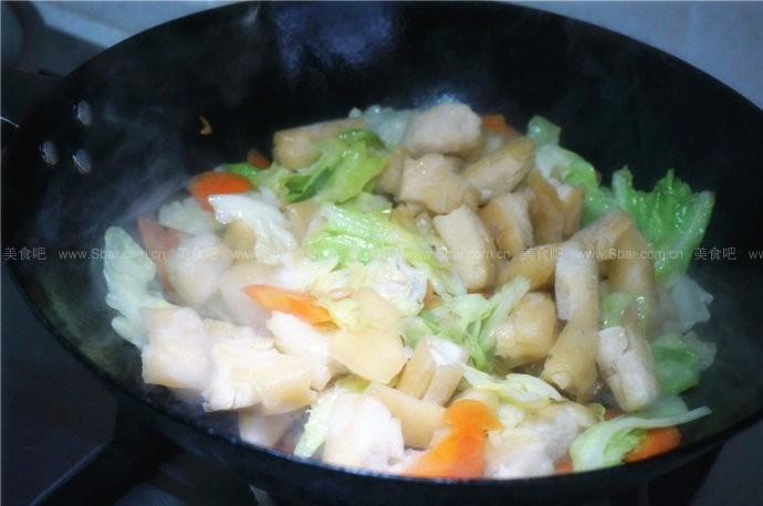 香菇酱炒年糕
