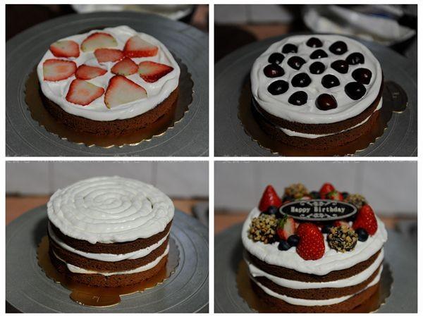 巧克力鲜果裸蛋糕