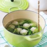 菠菜鱼丸汤(家庭自制零添加的放心鱼丸)