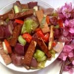 杂炒豆腐干