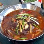 鲜猪血火锅(土家族美味)