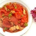 肉片青椒炒番茄