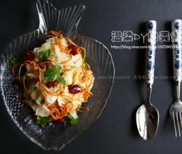 白菜炝拌虫草花