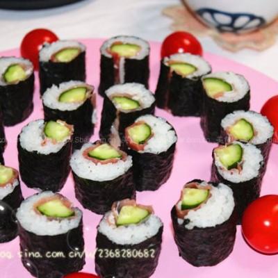 生火腿黄瓜寿司卷