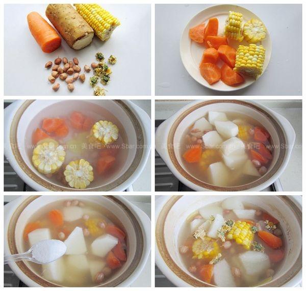 玉米山藥菊花湯