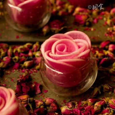 玫瑰白萝卜花