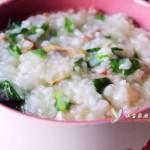 青菜蘑菇开洋火丁粥