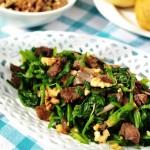 核桃牛肉拌菠菜(高考生早餐凉拌菜)
