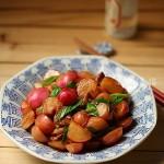 五花肉燒小蘿卜(熗拌蘿卜纓)