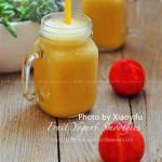 黄色综合水果酸奶冰沙