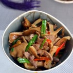 猪肚菇炒肉