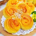 南瓜花朵面包
