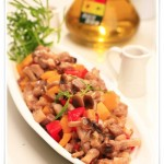 肉丁炒蟹味菇