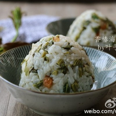 香椿海米饭团