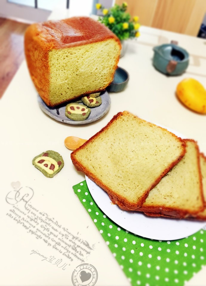 法式轻抹茶牛奶三明治