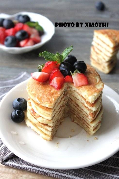 鲜果蜂蜜松饼