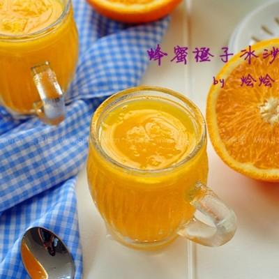 蜂蜜橙子冰沙
